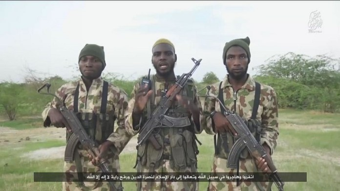 Still picture shows Islamic State in West Africa fighters