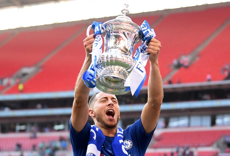 Eden Hazard scored the only goal as Chelsea beat Manchester United to win the Emirates FA Cup last season