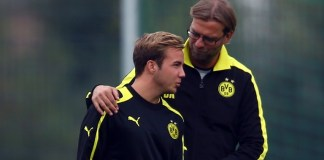 Mario Gotze worked with Jurgen Klopp at Borussia Dortmund