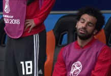 Mohamed Salah was an unused substitute as Egypt lost 1-0 to Uruguay