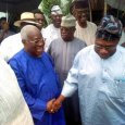 Chief Olusegun Obasanjo visited Chief Bode George to commiserate with him over his son's death