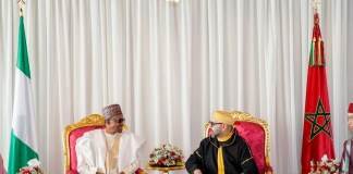 President Muhammadu Buhari and King of Morocco, His Majesty King Mohammed VI