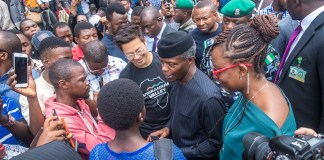 VP Osinbajo interacts with participants at the launch of Google Station in Lagos, Nigeria