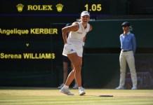 Angelique Kerber celebrates her first Wimbledon title