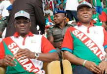 Governor Abdulfatah Ahmed of Kwara and Senator Bukola Saraki when the duo were still in APC