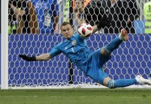 Igor Akinfeev saves two penalties as Russia knocked Spain out to reach the quarter final