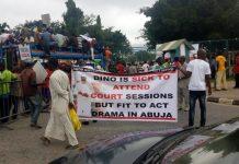 Nigerians protest against Senator Bukola Saraki and constituency projects in Nigeria