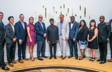 Prof Yemi Osinbajo met reps from Universal studios, Warner Bros, 20th Century Fox, IMAX, Disney and a host of others