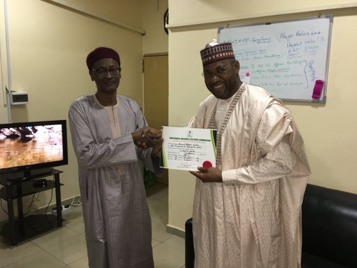 Ahmad Babba Kaita won the Katsina North Senatorial District and has been issued a certificate of return