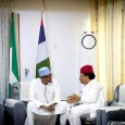 President Muhammadu Buhari met with Senator Shehu Sani at the Presidential Villa to settle the rift between him and Governor Nasir El-Rufai