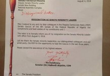 Senator Godswill Akpabio resigns as Minority Leader