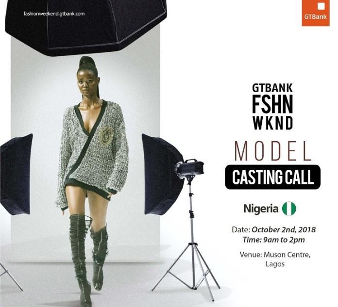 GTBank Fashion Weekend Model Casting Call