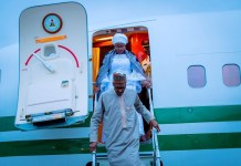President Muhammadu Buhari and his wife Aisha arrived New York for the 73rd UN General Assembly