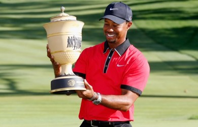 Tiger Woods won the Tour Championship his first trophy in five years