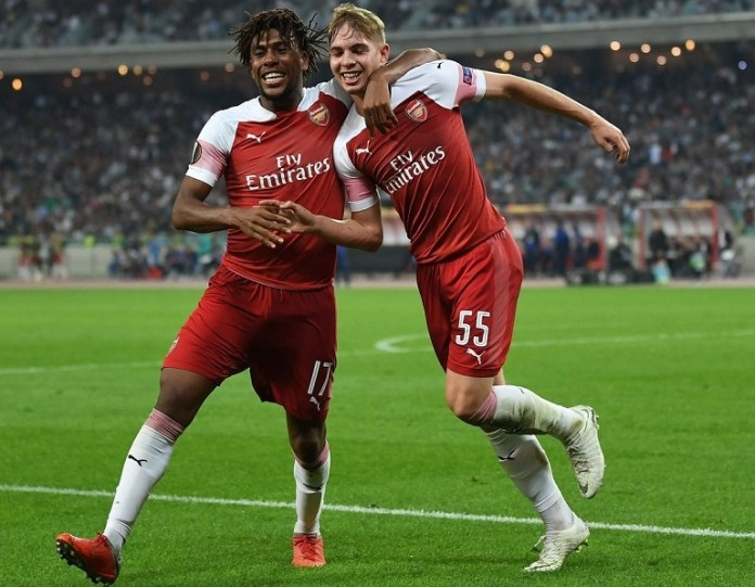 Alex Iwobi shined as Emile Smith Rowe scored his first competitive goal for Arsenal against Qarabag