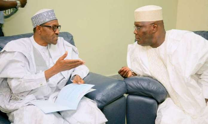President Muhammadu Buhari and Atiku Abubakar of APC and PDP