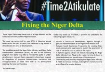Atiku Abubakar says he will pursue a genuine implementation of the Niger Delta Master Plan