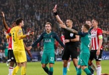 Hugo Lloris was sent off after a moment of madness