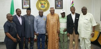 Members of APC National Working Committee Panel for the Lagos Primaries visited Governor Akinwunmi Ambode on Monday