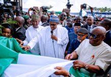FILE PHOTO: President Muhammadu Buhari commissions new Port Harcourt airport terminal