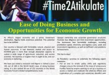 #Time2Atikulate: Atiku shares thoughts on Ease of Doing Business and Opportunities for Economic Growth