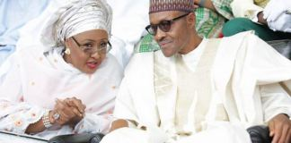 First Lady Aisha Buhari and President Muhammadu Buhari