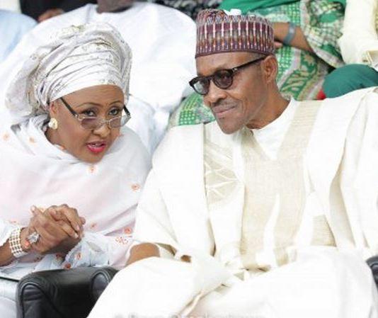 First Lady Aisha Buhari and President Muhammadu Buhari