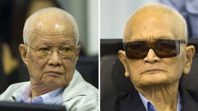 Nuon Chea, 92, was Pol Pot's deputy, and Khieu Samphan, 87, was Cambodia's regime head of state