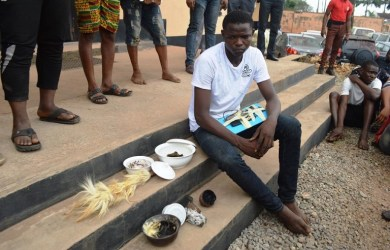 Olabisi Onabanjo University students were arrested for cyber crime with juju, telephones and laptops in their possession