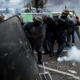Police were deployed to contain the Yellow Jacket protests in Paris using tear gas and water cannon