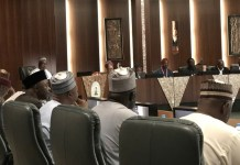President Muhammadu Buhari in meeting Tripartite Committee on the review of National Minimum Wage led by Ms Amaopuoruba Amal Pepple