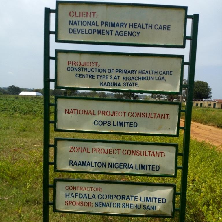 Rigachikun LGA residents are yet to have access to the N40m healthcare facility sponsored by Senator Shehu Sani