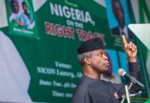 Vice President Yemi Osinbajo says Nigerians must be patient to enjoy progress