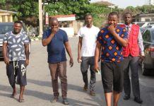 EFCC arraigned Dangote Cement staff Adewale Dalmeida, Ibrahim Lawal and Lukman Adam for fraud