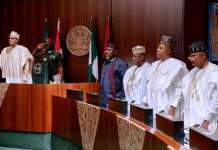 President Muhammadu Buhari has met with 36 state governors to discuss minimum wage