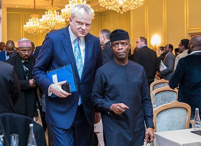 Vice President Osinbajo with Dr. Stefan Liebing, Chairman of German-African Business Association