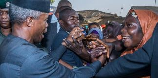 Vice President Yemi Osinbajo commenced door-to-door campaign in Nyanya, Abuja
