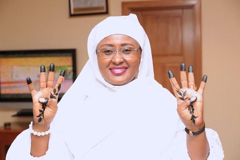 Aisha Buhari joins 4 + 4 campaign for her husband
