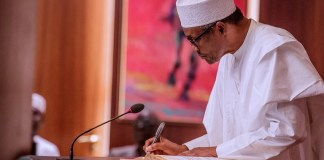 President Muhammadu Buhari signs state legislature and state judiciary financial autonomy into law CAMA African Trade Insurance Agency teachers
