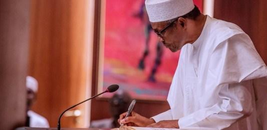 President Muhammadu Buhari signs state legislature and state judiciary financial autonomy into law CAMA African Trade Insurance Agency teachers
