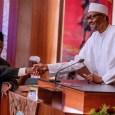 President Muhammadu Buhari after swearing-in acting CJN Ibrahim Tanko Muhammad
