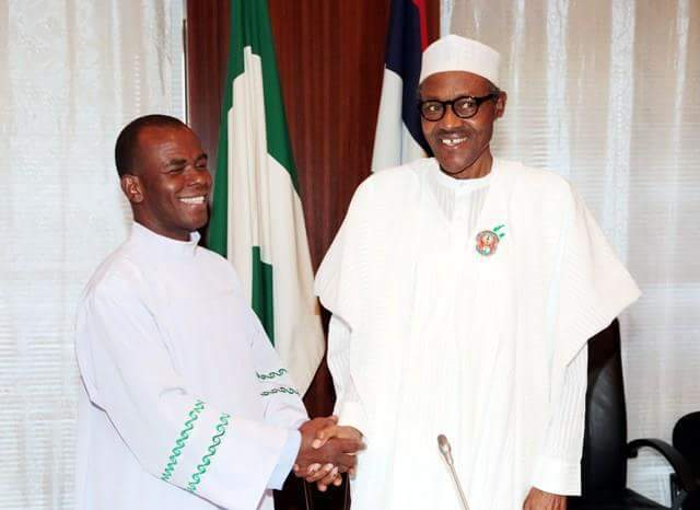 Reverend Father Ejike Mbaka and President Muhammadu Buhari