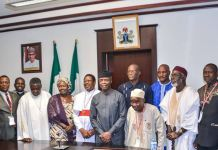 Vice President Yemi Osinbajo met Southern Kaduna leaders on 12 April 2017