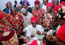 President Muhammadu Buhari in Ebonyi state assures Igbos that he will fulfill promise
