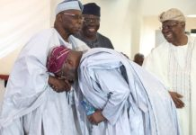 Obasanjo and Atiku at Lagos Island club: Obasanjo had published in his memoirs a brutal testimonial about Atiku, which he said he was not retracting