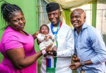 Vice President Yemi Osinbajo visits Mr. And Mrs Ahmed Ishola Rafiu