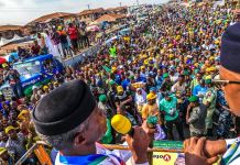 Vice President Yemi Osinbajo was received by a mammoth crowd in Ifo and Ota
