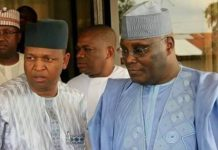 Atiku Abubakar and his son in-law, Babalele Abdullahi