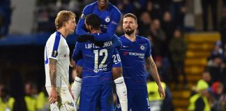Callum Hudson-Odoi has scored four goals this season, three in the Europa League