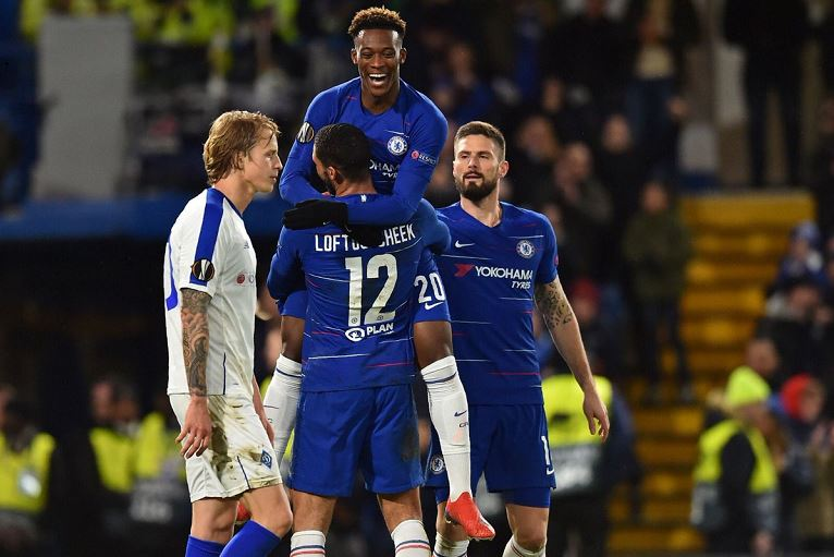 Callum Hudson-Odoi has scored four goals this season, three in the Europa League